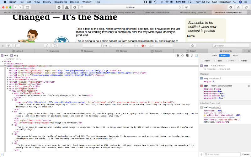 A screenshot of HTML